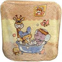 Теплый мягкий плед-одеяло в кроватку или коляску