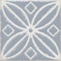 Вставка Kerama Marazzi Неаполитанская Амальфи STG\C402\1270 орнамент серый 9,9х9,9