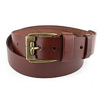Мужской кожаный ремень R-02 (коричневый) 125 cм