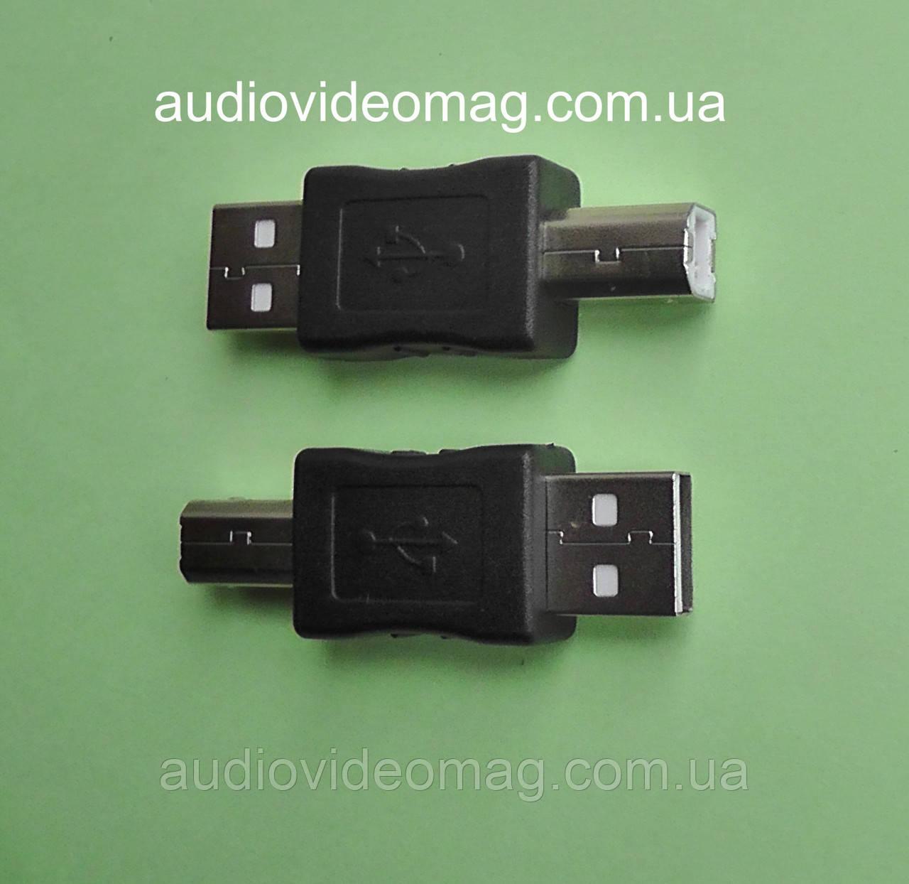 Переходник штекер USB А на штекер USB B