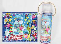 """Упаковка для новогодних подарков """"Снеговик"""" на 700 гр."""