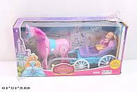 Карета с ходячей лошадкой, куклой, в коробке (ОПТОМ) 686-712