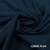 Синяя льняная ткань , цвет 999