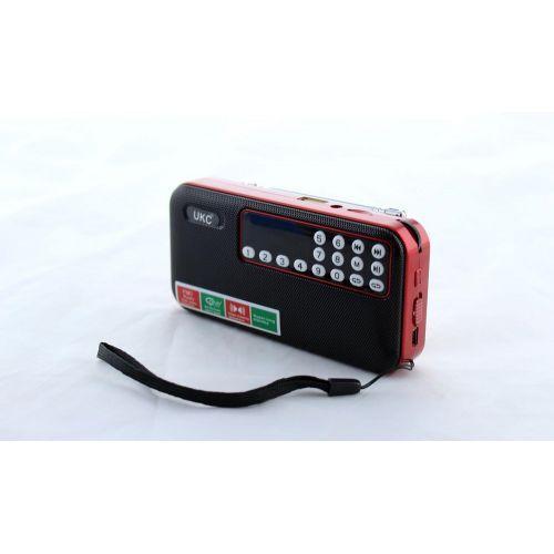 Портативная колонка с диктофоном UKC SPS U7 работает на 18650 Red, фото 1