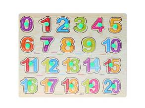 Деревянная рамка-вкладыш Цифры