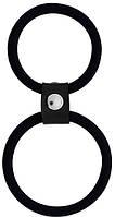 Эрекционное кольцо MENZSTUFF DUAL RINGS BLACK