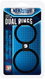 Эрекционное кольцо MENZSTUFF DUAL RINGS BLACK, фото 2