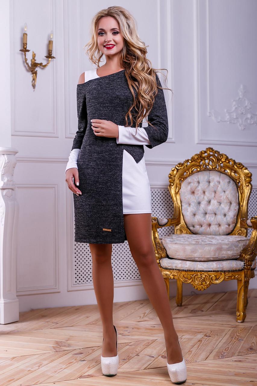 Стильный нарядный женский комплект 2472 белый-черный