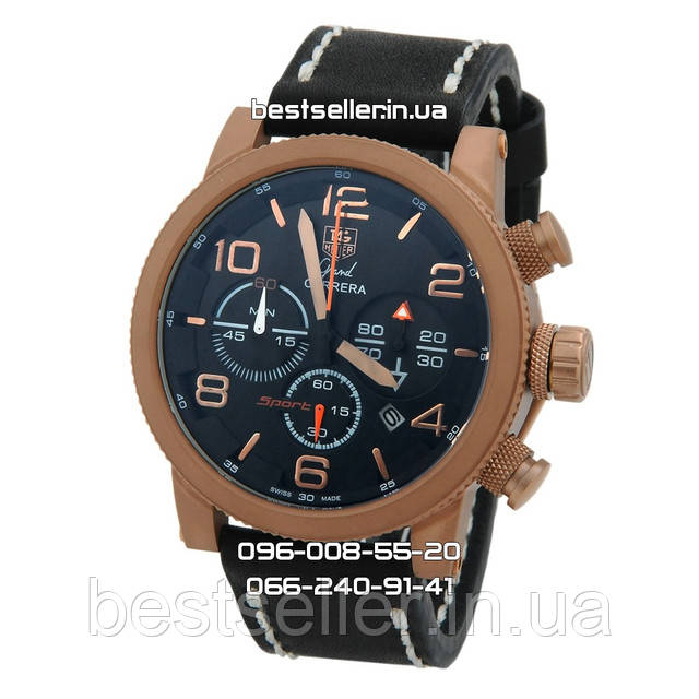 Часы Tag Heuer Grand Carrera Srort Cronograph Gold/Black. Класс: ААА.