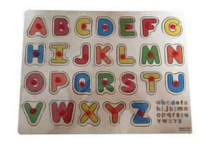 Дерев'яна рамка-вкладиш Вивчаємо літери