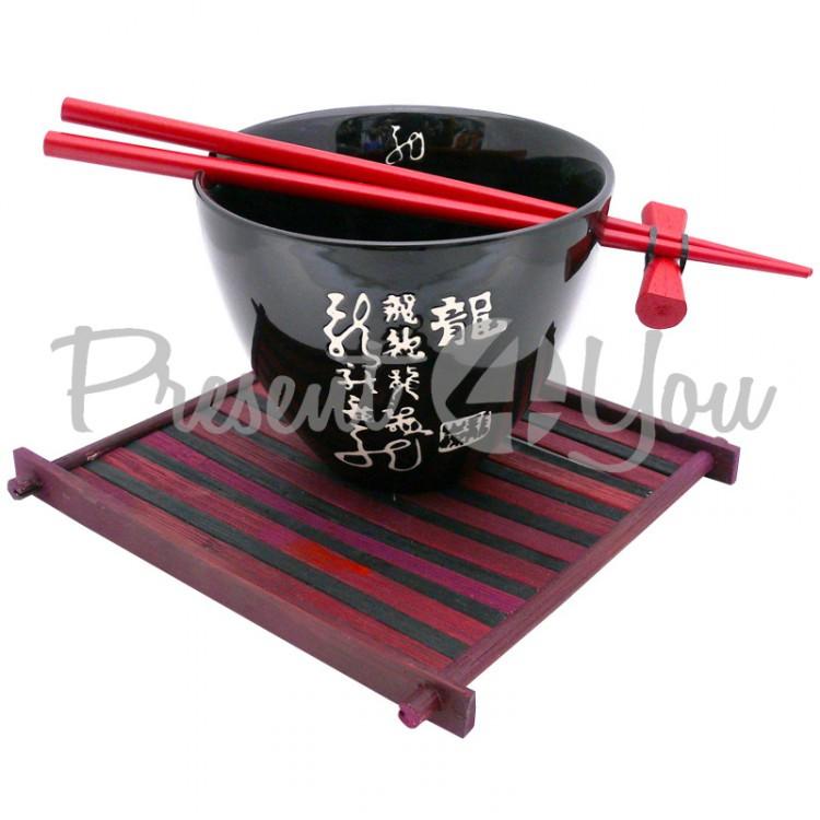 Набор для супа на 1 персону «Красное и Чорное» (220-2021)