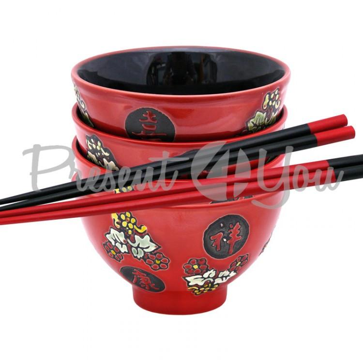 Комплект для супа на 4 персоны «Красный» (220-2033)