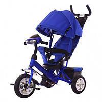 Детский трехколесный велосипед Tilly Trike (T-346 Синий) с родительской ручкой