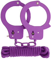 Набор BONDX METAL CUFFS & LOVE ROPE SET-PURPLE