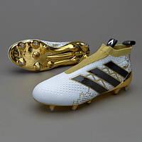 Профессиональные футбольные бутсы Adidas ACE 16+ Purecontrol SG Pro GOLD BA8425
