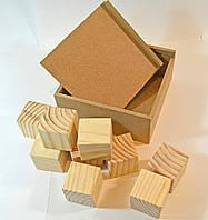Короб - шкатулка, с кубиками.Заготовка для декупажа и росписи.