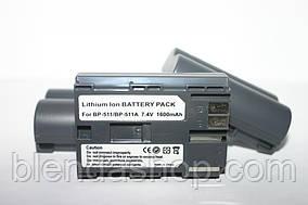 Аккумулятор для фотоаппаратов CANON 300D, 10D, 20D, 30D, 40D, 50D, 5D  - BP-511a (аналог) - 1600 ma