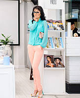 """Летние женские брюки """"Классик """" персик"""
