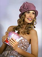 Шляпа женская зимняя фетр Willi Consuela