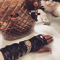 Черные перчатки-митенки ТМ DORATTI