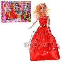 Кукла с нарядом 8842 A-6 28 см, дочка 10 см, наряды, корона, аксессуары