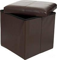 Короб - пуф 38 x 38 x 38 см коричневый