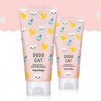Очищающая пенка-скраб-маска Holika Holika Dodo Cat Dust Out 3 in 1 Trans Foam Cleanser, оригинал