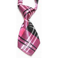 Галстук Bow Tie House для ребенка розовый в клетку 02555