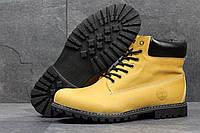 Мужские ботинки Timberland Зима. Кожа Мех 100% Желтые