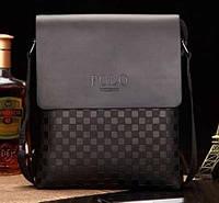 Гарантия! Кожаная мужская сумка POLO | Деловая и качественная сумка