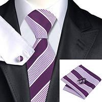 Подарочный JASON&VOGUE набор фиолетовый в белую полоску 02771