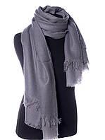Красивый женские однотонный шарф Серый