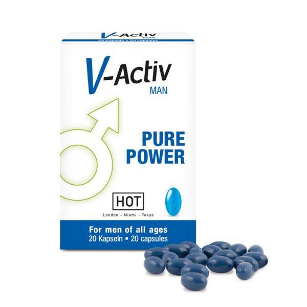 HOT Капсулы стимулирующие для мужчин V-ACTIV 20 шт