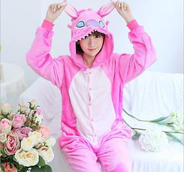 Пижама кигуруми женская стич розовый