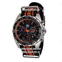 Часы Tag Heuer Formula 1 CR7 Cristiano Ronaldo's Chronograph Silver/Orange. Реплика Premium качества (ААА), фото 1