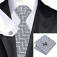 Подарочный JASON&VOGUE набор черно-белый в узорах 03661