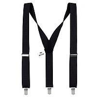 Подтяжки Bow Tie House мужские черные 3.5 см Y 03792