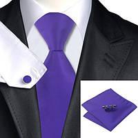 Галстук JASON&VOGUE на подарок фиолетовый однотонный 03784