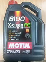Синтетическое моторное масло MOTUL 5W30 8100 X-clean FE (5л) MB 229.51/VW 502.00-505.01 - Франция