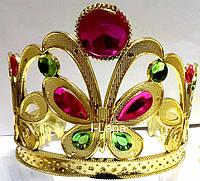 Ободок Корона Бабочка  золотая с камнями