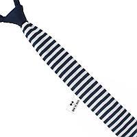 Галстук Bow Tie House трикотажный синий в белую полоску 04749