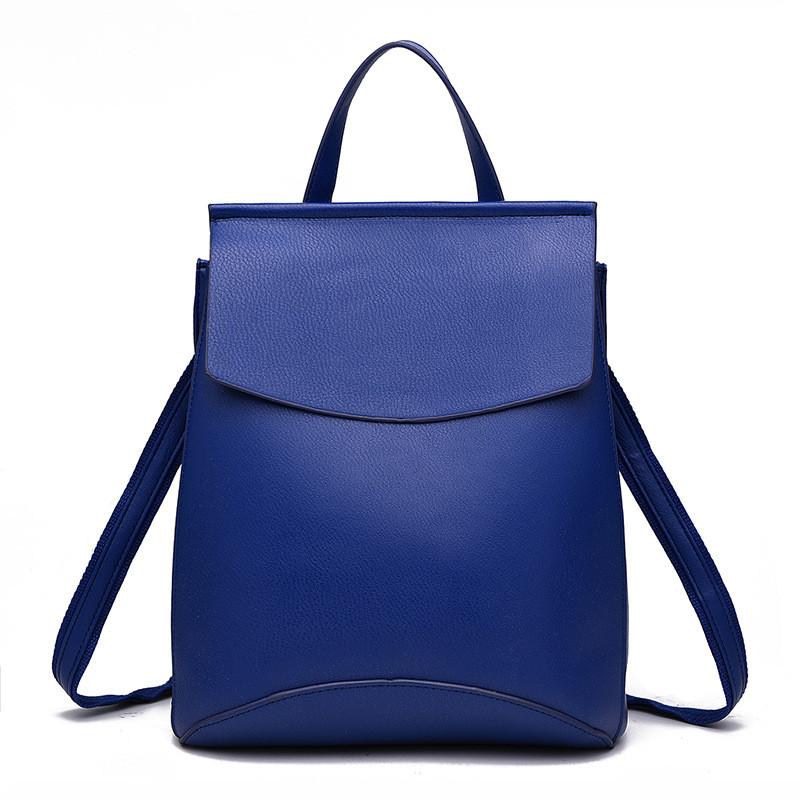 Рюкзак женский матовый с клапаном (синий), цена 873,75 грн., купить ... 8caab2e8c1a
