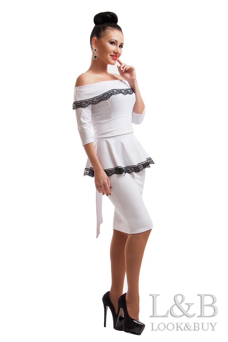 Нарядное платье ФРЕНЧ белый