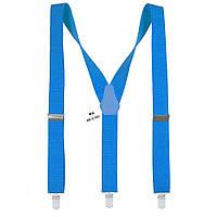 Подтяжки Bow Tie House мужские ярко-голубые Y3.5 см  05125