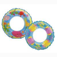 Детский надувной круг Intex 58245 61см 2 цвета, круг для плавания, плавательный круг детский