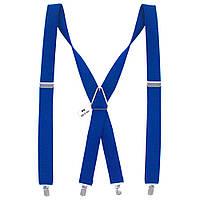Подтяжки Bow Tie House мужские основательные ярко-синие 3,5 см Х 05409