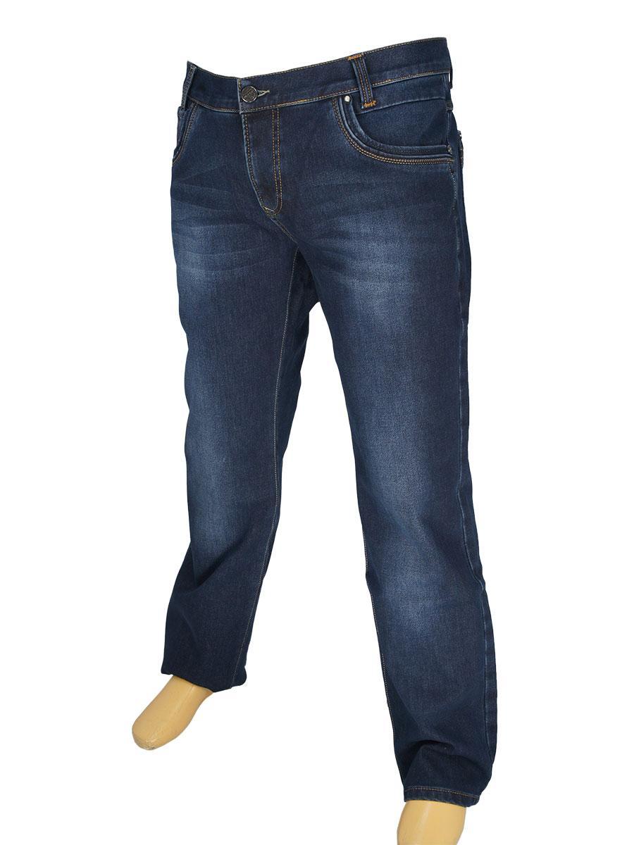 Зимові чоловічі джинси X-Foot 1712-L великого розміру