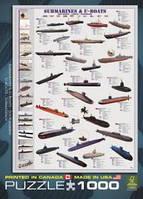Пазлы 1000 элементов Подводные лодки Eurographics 6000-0132