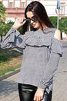 "Блузка - рубашка ""Диамант"" черно-белая"
