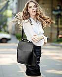 Рюкзак женский кожаный  с клапаном (бронзовый), фото 5